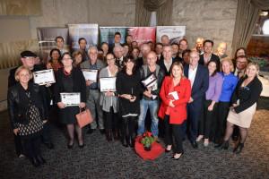 Dr Kelleher alongside her fellow winners at the 2016 Ballarat Heritage Awards
